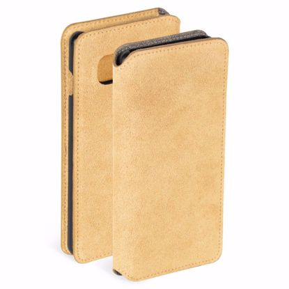 Picture of Krusell Krusell Broby 4 Card Slim Wallet Case for Samsung Galaxy S10 E in Cognac