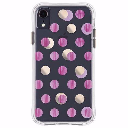Picture of Case-Mate Case-Mate Wallpapers Case for Apple iPhone XR in Pink Dot